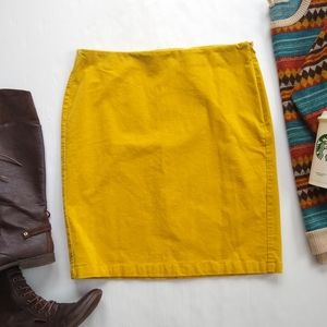 OLD NAVY • mustard yellow Corduroy pencil skirt